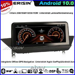 10.25 CarPlay Android 10.0 Autoradio GPS Navi für BMW X1 E84 IPS WiFi 4G DAB+BT