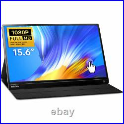15.6 IPS Full HD HDR Touch Screen USB-C Portable Monitor With Battery Speaker