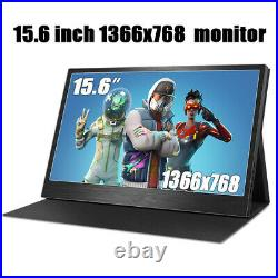 15.6 Touch Screen Portable Monitor HDMI IPS Ultra Slim 1366x768 Type C Monitor