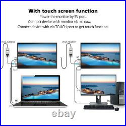 2020 Portable Touch Screen 13.3 IPS 1080P Full HD Monitor Display Dual Speaker