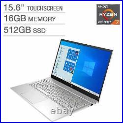 2021 HP 15.6'' FHD IPS Touch Laptop, AMD Ryzen 7 5700U, 16GB RAM, 512GB SSD