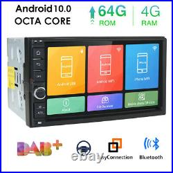 64GB 7 Double 2 Din Android 10.0 Car Stereo Radio FM MP5 Player Sat Nav GPS IPS