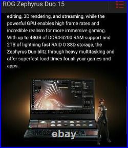 ASUS ROG Zephyrus Duo SE 15 Ultra HD 120Hz IPS RTX 3080 ONLY 1 LEFT