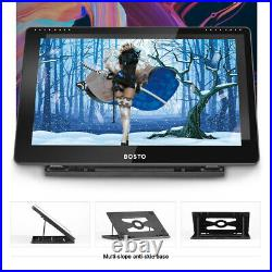 BOSTO 16HD 15.6 Inch IPS Graphics Drawing Tablet 1920 1080 8192 Level USB