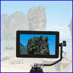 Black FEELWORLD F6 PLUS 5.5 IPS Touch Screen Monitor Video DSLR Camera Monitor