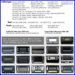 CAM+Eonon Android 10 9 IPS Car Sat Nav DAB Radio WiFi DSP CarPlay for VW RCD340