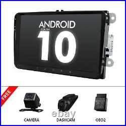 CAM+OBD+DVR+Android 10 9 IPS Car Stereo Radio GPS For VW Golf/Polo/Jetta/Passat
