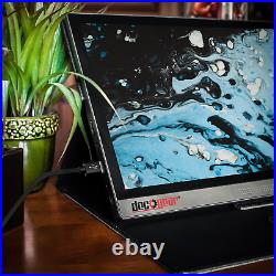 Deco Gear 15.6 Portable Monitor 1080p IPS Rechargeable Touchscreen, Speakers