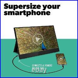 ElectriQ 15.6 IPS UHD 4K Touch Screen USB-C Portable Monitor