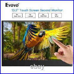 Eyoyo 13,3-Zoll-Xbox 360-Zoll-IPS 1920 1080 10-Punkt-Touchscreen-HDMI-Display