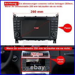 Für Mercedes Benz C55 AMG W203 7 Zoll Autoradio GPS Navi DAB+ RDS SWC Bluetooth