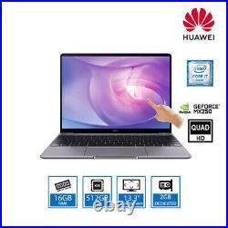 Huawei MateBook 13 2020 Laptop i7-10510U 16GB 512GB SSD 13.3 QHD IPS Touch W10