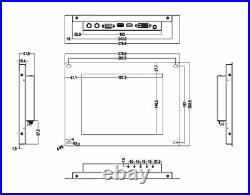 LILLIPUT TK970-NP/C/T-B 9.7 1024X768 IPS Metal Open Frame 5 wire Touch screen
