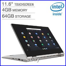 Lenovo C340 11.6 HD IPS Touch N4000 1.1GHz 4GB 32GB eMMC 2in1 Chromebook Pink