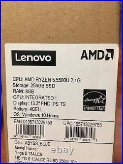 Lenovo Yoga 6 Laptop, 13.3 FHD IPS Touch 300 nits, Ryzen 5 5500U