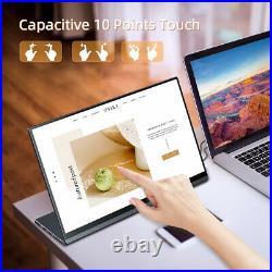 Portable Touch Screen Monitor 1080P 15.6'' Laptop Gravity Sensor Display HD USB