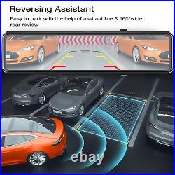 TOGUARD 12''Spiegel Dashcam 4K GPS TouchScreen Autokamera DVR Parkmonitor Camera