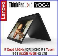 ThinkPad X1 Yoga i7 4.0GHz HDR WQHD IPS 16GB 512GB 4G 3Y On-site+ADP Warranty