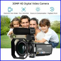 WiFi Digital Camcorder DV 30MP 16X 3IPS Touchscreen ORDRO Video Camera 4K